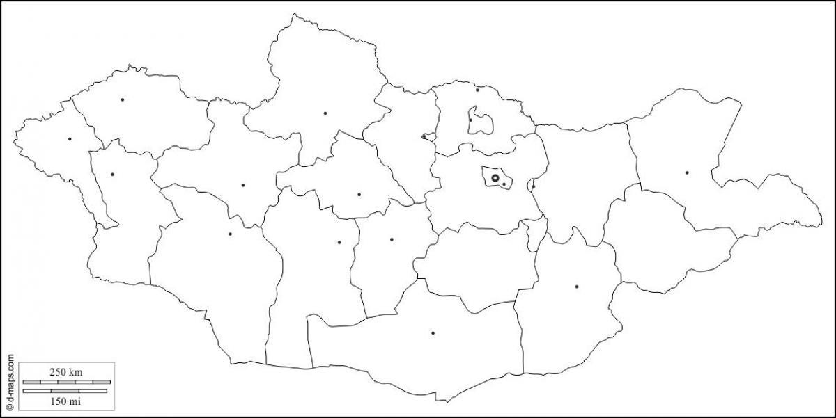 Carte Asie Vierge.La Mongolie Carte Plan Carte Vierge De La Mongolie Asie De L Est