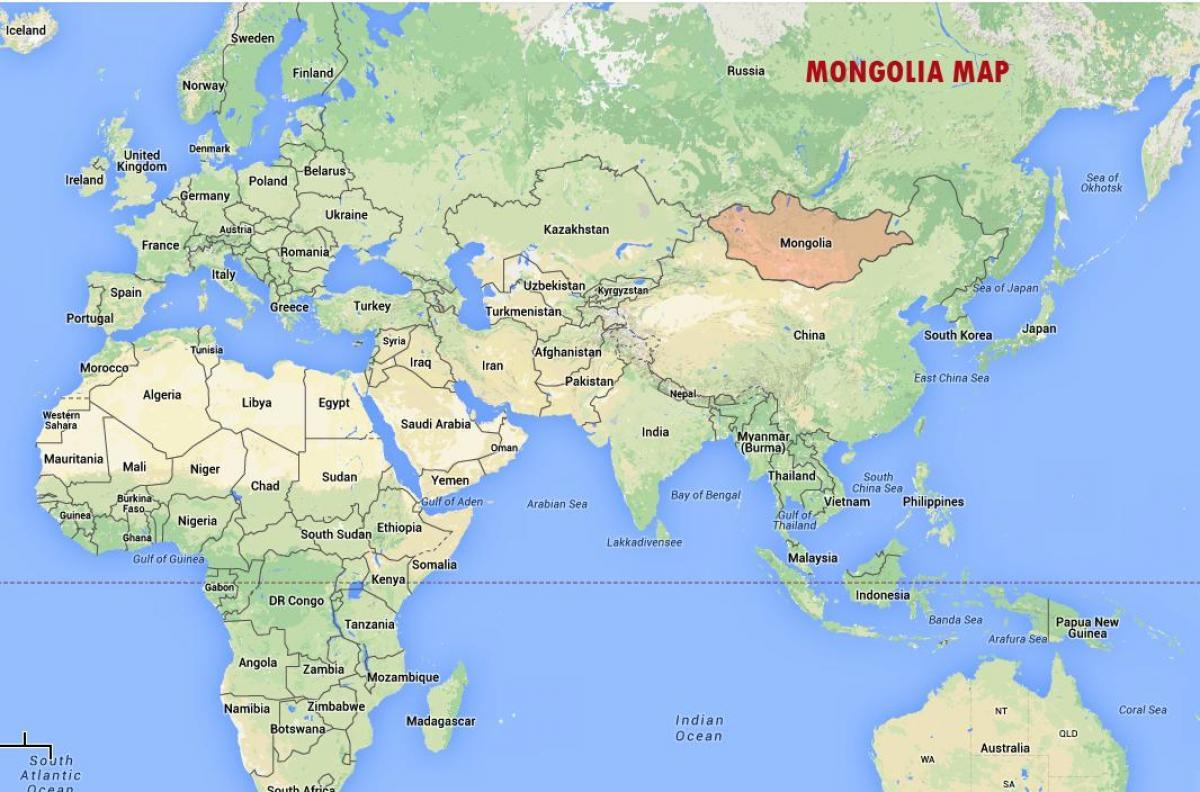mongolie carte du monde La mongolie sur la carte du monde la carte du Monde montrant la